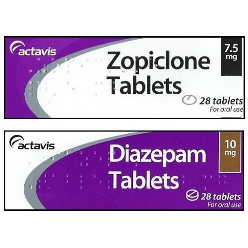 Buy 30 Indian  Zopiclone 7.5mg Tablets, 30 Indian Diazepam 10mg Tablets